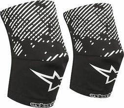 Alpinestars MTB Mountain Bike Knee Socks - Black/White