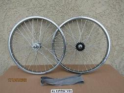 NEW 20'' BMX WHEEL SET WITH FREEWHEEL FOR GT, DINO, MONGOOSE