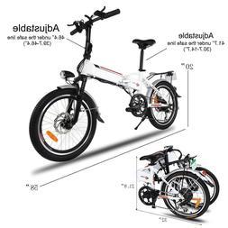 New 20Inch Folding Electric Mountain Bike Bicycle Ebike Fold