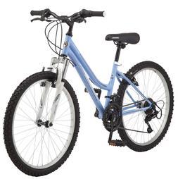 "Roadmaster Granite Peak 24"" Girls Mountain Bike, White/Pink"