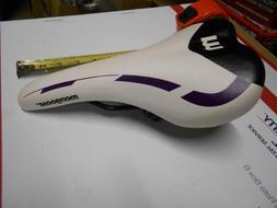 New Mongoose Bike Seat WHITE Purple BLACK Bicycle Saddle MTB