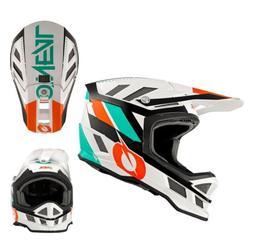 Oneal Downhill MTB Helmet Blade Synapse White Orange Full Fa