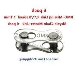 Six  KMC Missing Link 7.1mm  6/7/8 Speed Bicycle Master Link