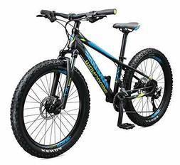 Mongoose Tyax Kids Mountain Bike with 24-Inch Wheels in Blac